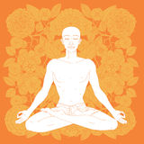 Posizione di loto di yoga Immagine Stock