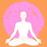 Posizione di loto di yoga Fotografie Stock Libere da Diritti