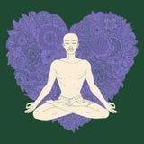 Posizione di loto di yoga Immagini Stock