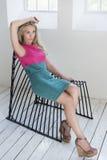 posizione di modello nello studio Fotografia Stock