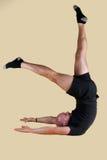 Posizione di Pilates - forbici del basamento della spalla Fotografia Stock