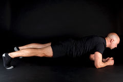 Posizione di Pilates - plancia Immagini Stock