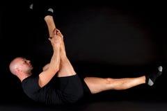 Posizione di Pilates - singolo piedino diritto Fotografie Stock