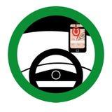 Posizione di Pin dell'automobile Fotografie Stock Libere da Diritti