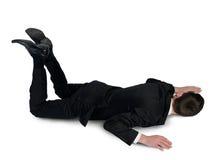 Posizione di sonno dell'uomo di affari Immagine Stock Libera da Diritti