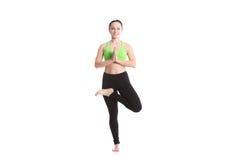 Posizione di vrikshasana di yoga Fotografia Stock