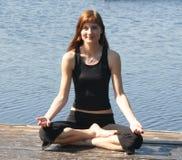 Posizione di yoga Fotografia Stock Libera da Diritti
