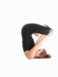 Posizione di yoga dell'equilibrio Immagini Stock