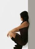 Posizione giapponese della donna immagini stock libere da diritti