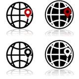 Posizione globale illustrazione vettoriale
