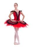 Posizione graziosa della ballerina immagini stock libere da diritti
