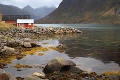 Posizione, isole di Lofoten - Norvegia immagini stock