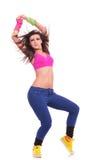 Posizione piacevole del danzatore della donna Fotografie Stock Libere da Diritti