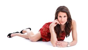 Posizione sexy della giovane donna fotografie stock