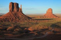 Posizione, valle del monumento - Utah U.S.A. immagini stock