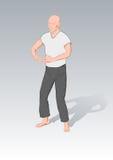 Posizioni di ginnastica un kung di 'chi' illustrazione vettoriale