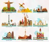 Posizioni di turismo e di viaggio Fotografie Stock Libere da Diritti