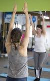 Posizioni di yoga Fotografia Stock