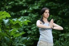 posizioni l'yoga fotografia stock libera da diritti
