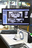Poskom portable X-ray machine and dental images Stock Photos