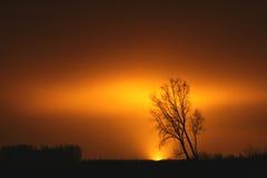 Posluminiscencia enorme en el cielo Foto de archivo libre de regalías