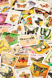 Posmarks с бабочками Стоковое фото RF