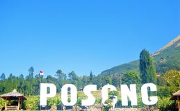 Posong, destino do ` de Instagenic do ` da terra de Temanggung Indonésia foto de stock royalty free