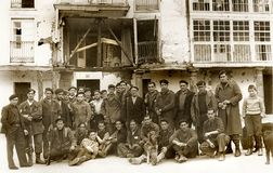 Pospolitacy na przodzie Elgeta 1937 spanish cywilna wojna obrazy stock