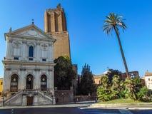 Pospolite ruszenie Basztowa i Militarna katedra Santa Caterina da Siena obraz royalty free