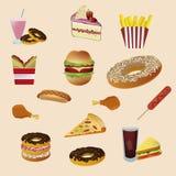 Pospolity fast food Obrazy Royalty Free