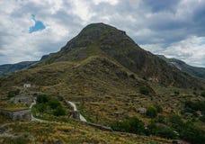 Pospolity Mountain View w Południowym Gruzja zdjęcia royalty free
