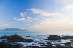 Posponga la montagna Città del Capo Fotografie Stock