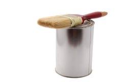 Possa di vernice con la spazzola immagine stock libera da diritti