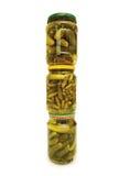 Possa dos pepinos isolados Imagens de Stock