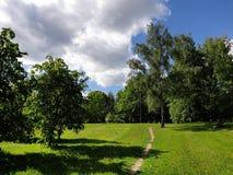 possa primavera no parque da paisagem de Mitino fotos de stock