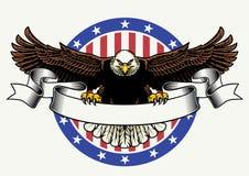 Posse americana da águia americana a fita vazia para o texto Imagens de Stock Royalty Free