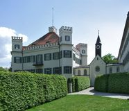 Possenhofen Castle in sunny ambiance Royalty Free Stock Images