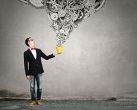 He possesses constructive thinking Royalty Free Stock Images