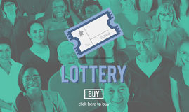 Possibilidade da loteria que joga Lucky Risk Game Concept Fotografia de Stock Royalty Free