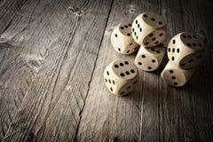 Possibilidade dos dados e conceito do risco Foto de Stock