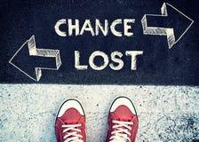 Possibilidade e perdido Fotografia de Stock Royalty Free