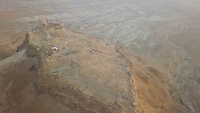 Possibilidade remota da fortaleza do masada, tiro do zangão aéreo imagens de stock royalty free