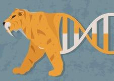 Possibilità di biologia o della clonazione di resurrezione Sarà possibile creare un organismo, che era specie estinte fotografia stock libera da diritti