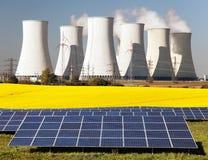 Possibilità tre per produzione di energia elettrica Immagine Stock Libera da Diritti