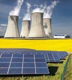 Possibilità tre per produzione di energia elettrica Fotografia Stock