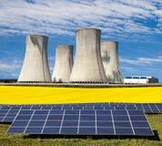 Possibilità tre per produzione di energia elettrica Immagine Stock