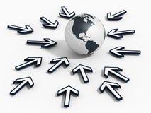 Possibilité globale de recherche illustration stock