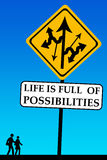 Possibilities. Life is full of possibilities, take your chance Royalty Free Stock Photo