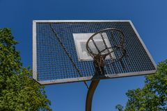 Possibility of playing basketball in a park stock image