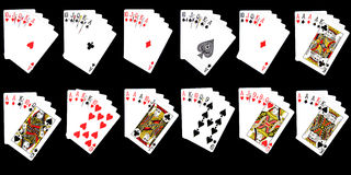 Possible Combinations from Cards Stock Photo